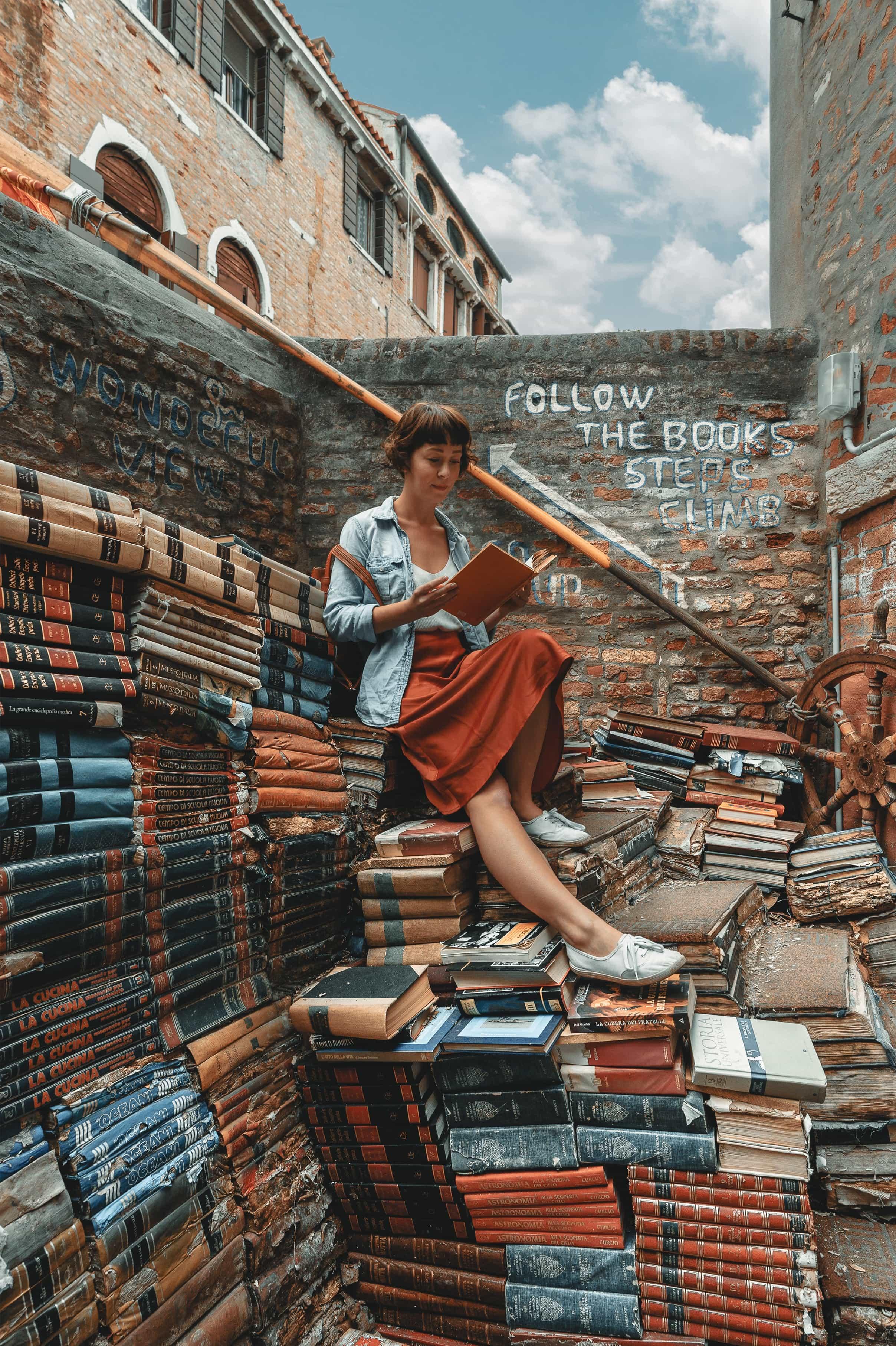 Girare Venezia: Libreria Acqua Alta